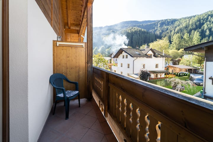 Charming Apartment in Residence Priska with Mountain View, Wi-Fi, Balcony, Garden & Terrace; Parking Available