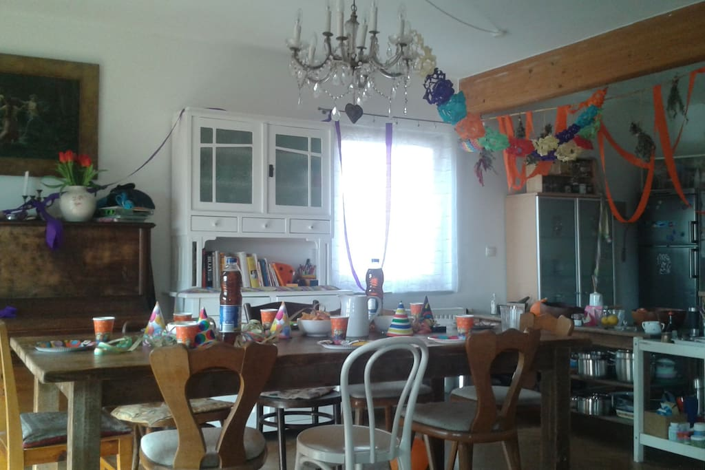 Esszimmer + Küche Erdgeschoss