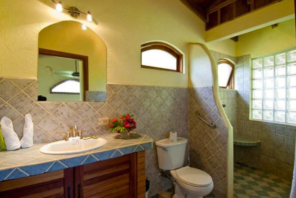 The beautiful bathroom of the Villa.