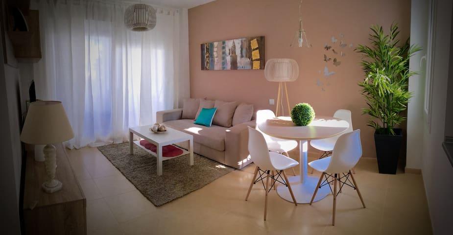 Lujoso Apto. 2 hab terraza y jardín - Torre-Pacheco - Apartment