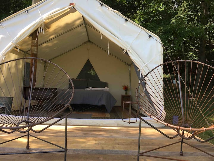 Steady Slope Furnished Wall Tent