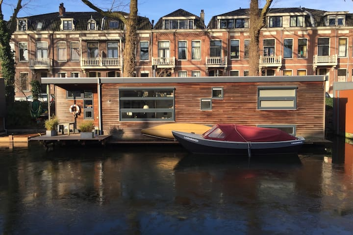 Moderne woonboot / houseboat Utrecht - ユトレヒト - ボート