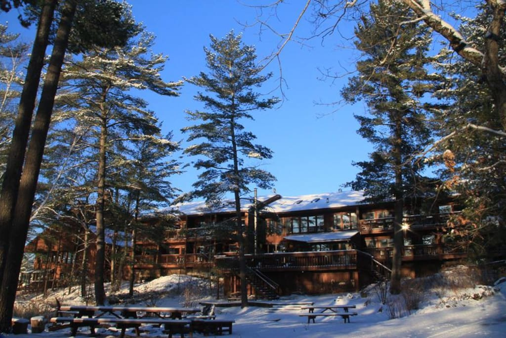 Lodge taken from the lake