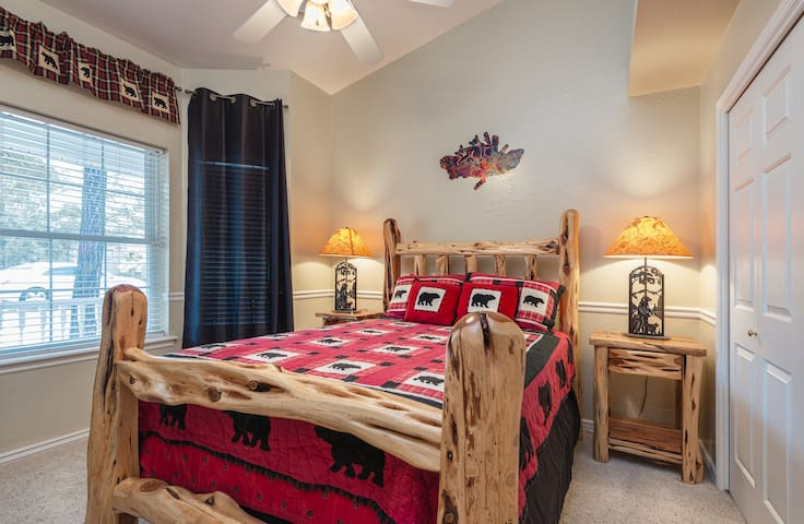 Beautiful bedroom #3 provides a queen bed and lovely views.