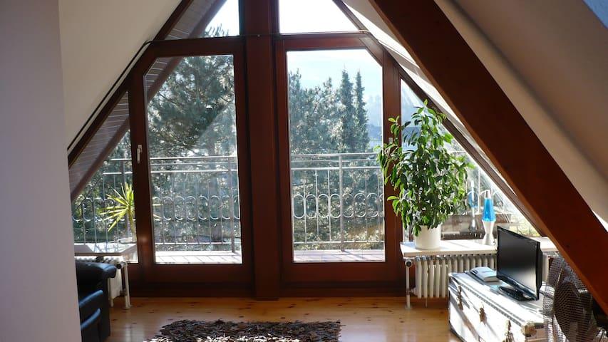 Studio im Dach mit Südbalkon - Baden-Baden - Hus