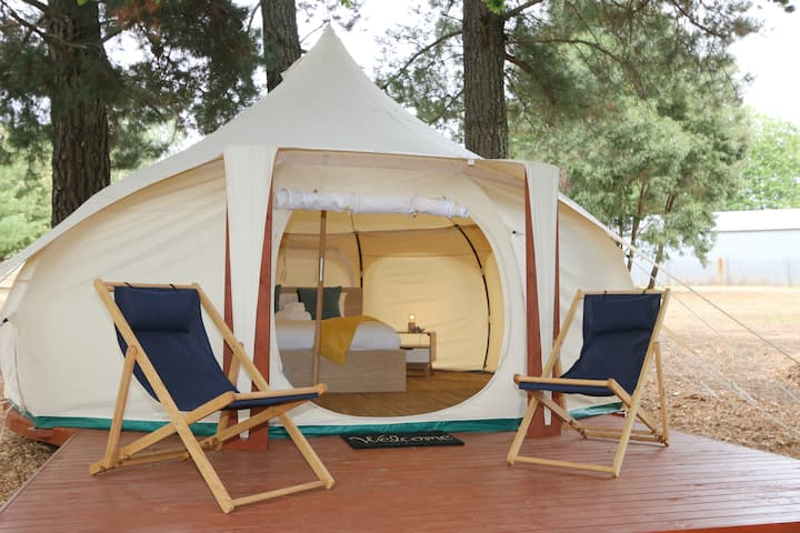 Daylesford Glamping | Serenity | Luxury Bell Tent