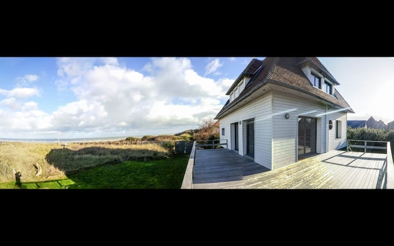 Maison face Mer dans les Dunes - Merville-Franceville-Plage - Hus