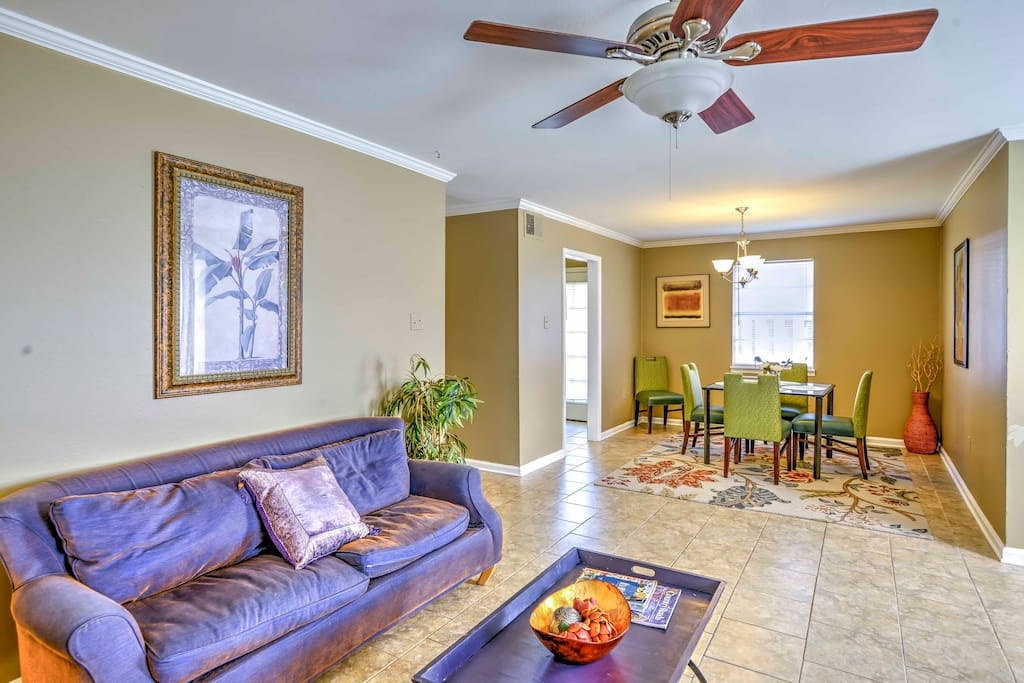 The duplex offers modern amenities and comfortable furnishings.
