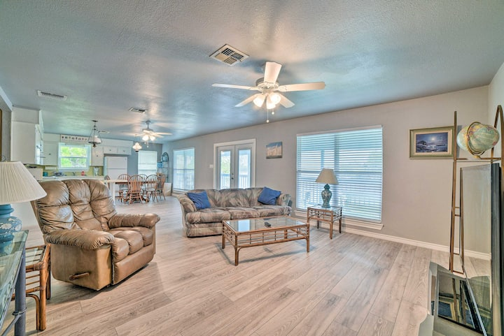 NEW! Updated Lakefront Apt w/ Dock, Deck, & Views!