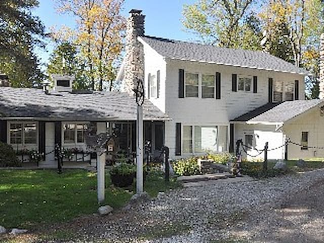 Burt Lake House and Guest House with Heated Pool