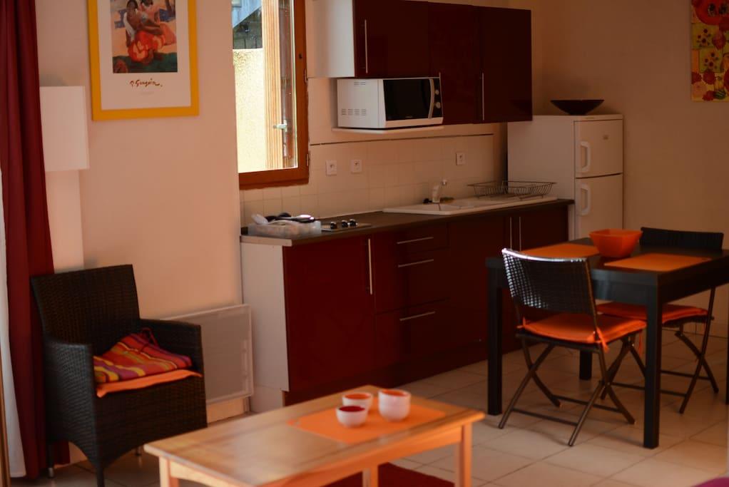 studio meubl houses for rent in saint bauzille de. Black Bedroom Furniture Sets. Home Design Ideas