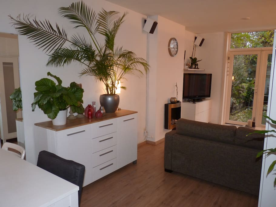 Livingroom with partial view of garden