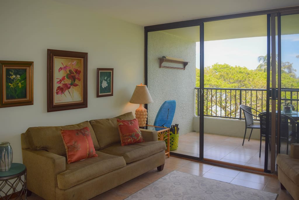 The condo is comfortably furnished with everything you'll need for a relaxing stay.