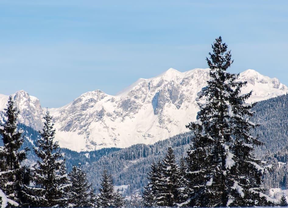 Der Blick zum Tennengebirge.