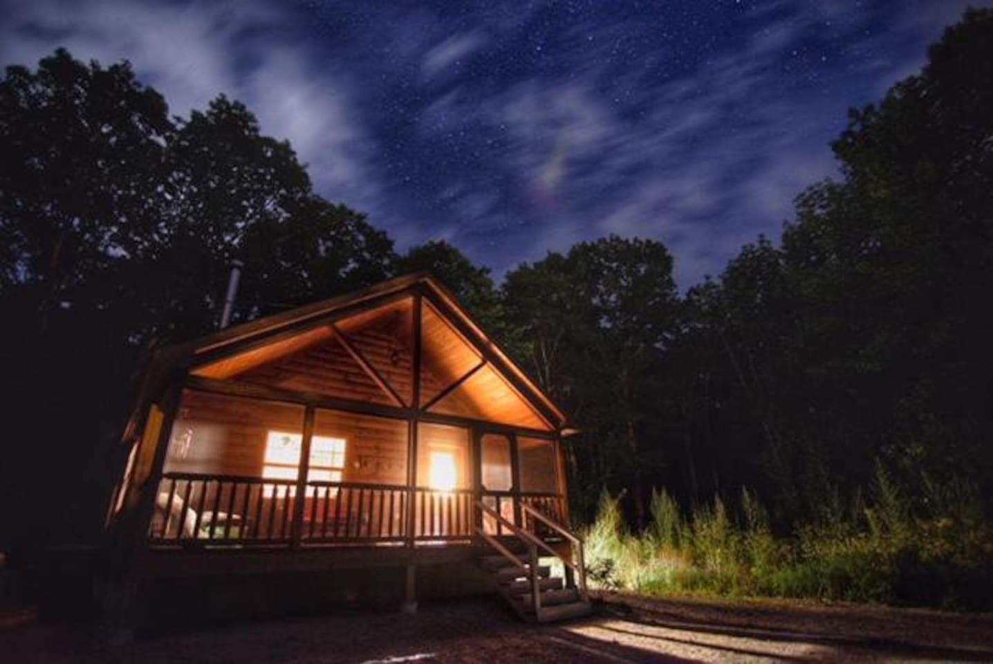 The night sky at the cabin, taken by a wonderful photographer and guest in August 2018.