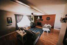 Retreat at Adventure's Edge with a king sized bed