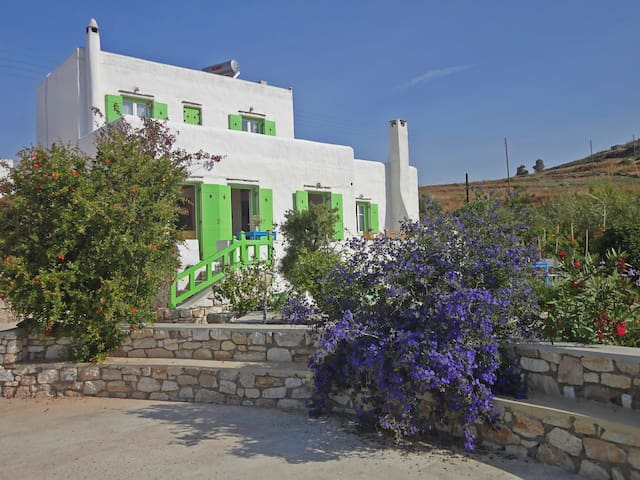 Villa Armonia: Splendid view to the Aegean sea - Piso Livadi - Villa