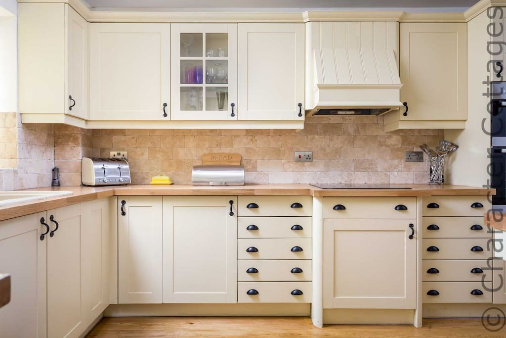 The lovely country style kitchen