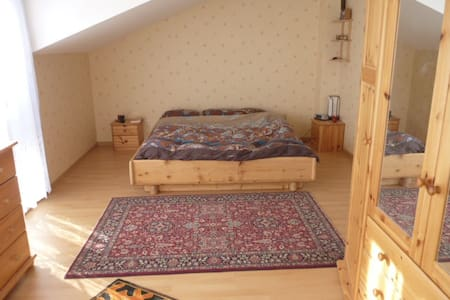 Spacious room in new semi-rural villa near Geneva. - Etrembières - 別荘