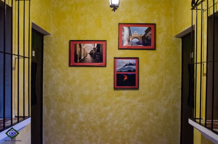 gallery in the corner of our rooms so you can see how beautiful is La Antigua Guatemala