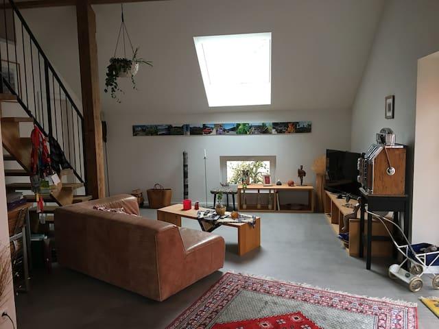 Studio mit Galerie und grosser Terrasse - Attiswil - Apartemen