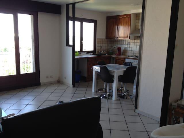 Bel appartement donnant sur le stade parc ol - Décines-Charpieu - Lägenhet