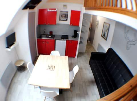 Duplex 40m² 6 pers La Mongie pied des pistes 2 SdB
