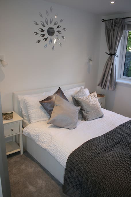 A great night sleep is guaranteed in a lovely double bed with fluffy duvet and beautiful bed linen