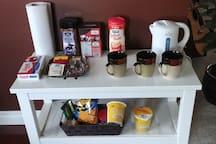 Coffee & snacks