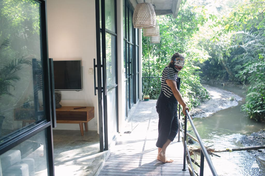 Hang outside your room and watch the river float by
