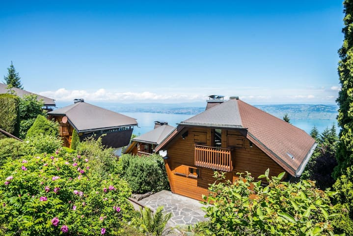 Chalet with great view on lake geneva - Thollon-les-Mémises - Huis