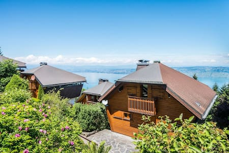 Chalet with great view on lake geneva - Thollon-les-Mémises - บ้าน