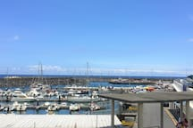 Apartment's view to Vila Franca's Marina