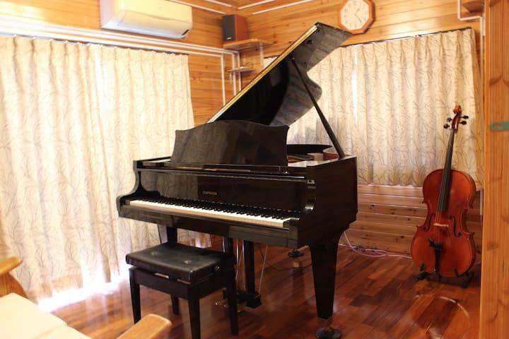 グランドピアノ常備の部屋! - Kitanakagusuku-son - Flat