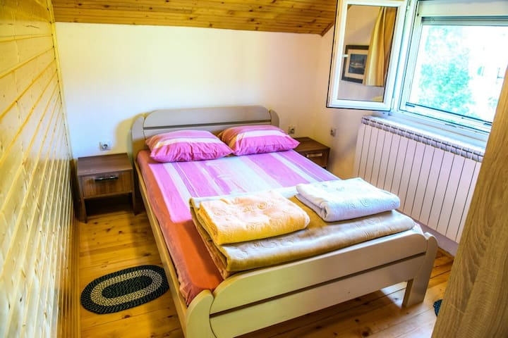 Bedroom is cozy and clean and really bright so you can enjoy in beautiful view from your window.