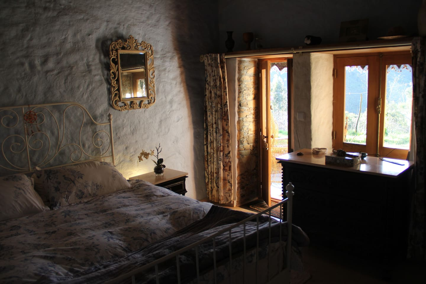 Our converted stone cottage with ensuite facility's and a small kitchenette.