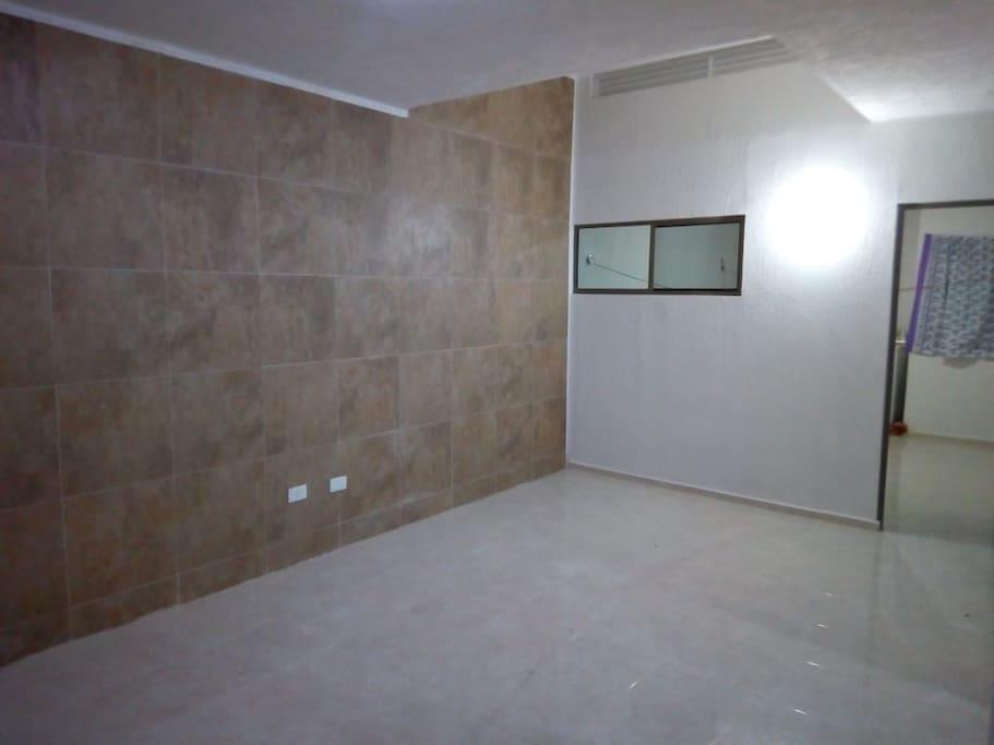 La sala, espaciosa para colchonetas