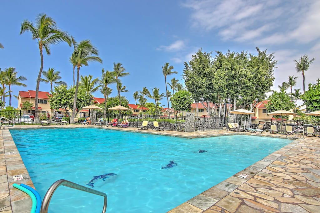 Spend countless hours lounging by the Kona Surf community pool.