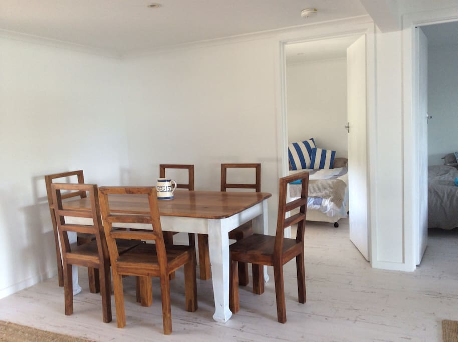 large dining table seats six