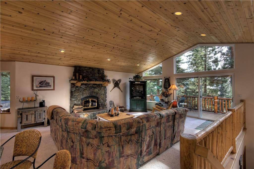 Pete's Place Living Area Fireplace