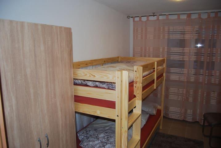 Ideal auch für groß und klein, ein Etagenbett