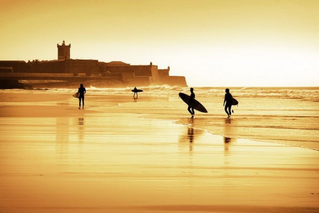 Praia Carcavelos has some of the Best Surfing in Portugal and many Competitions are held there