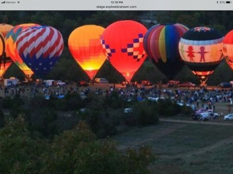Balloons Over Branson starts  October 18-24, nights available now!