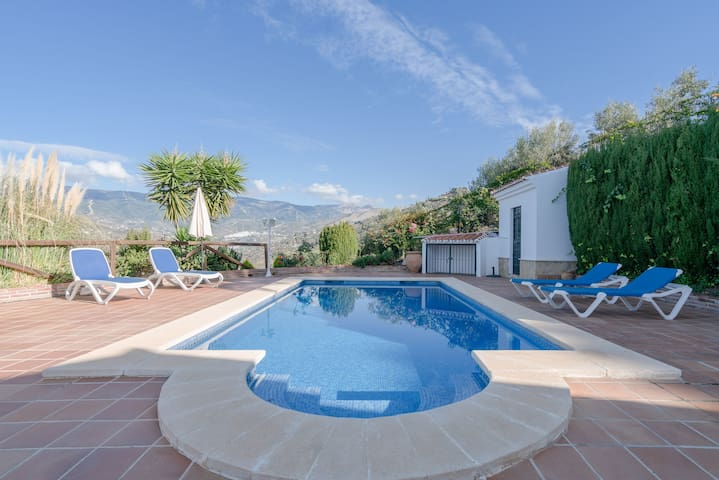 Peaceful Home Cortijo La Rijana with Pool, Terrific Views, Terrace, Wi-Fi & Air Conditioning; Parking Available
