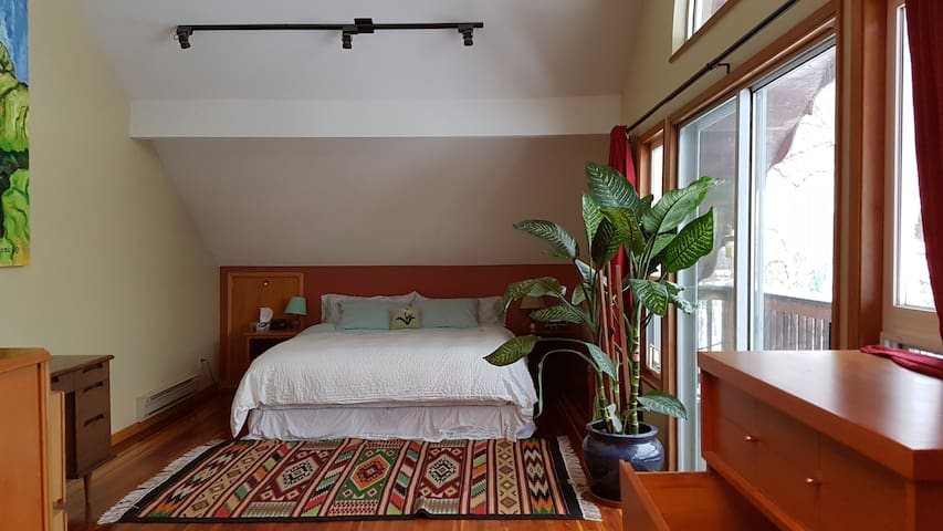 Big Private Room with King Bed in Shared House