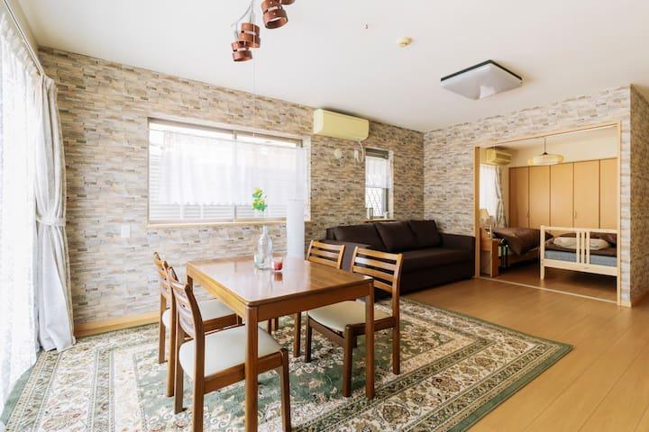 1min to K-town, nice clean house for 5 ppl :) - Shinjuku-ku - Apartemen