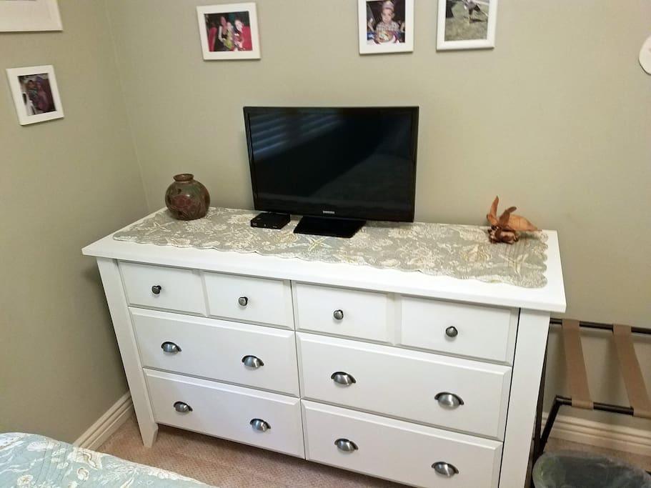 TV and plenty of storage space.