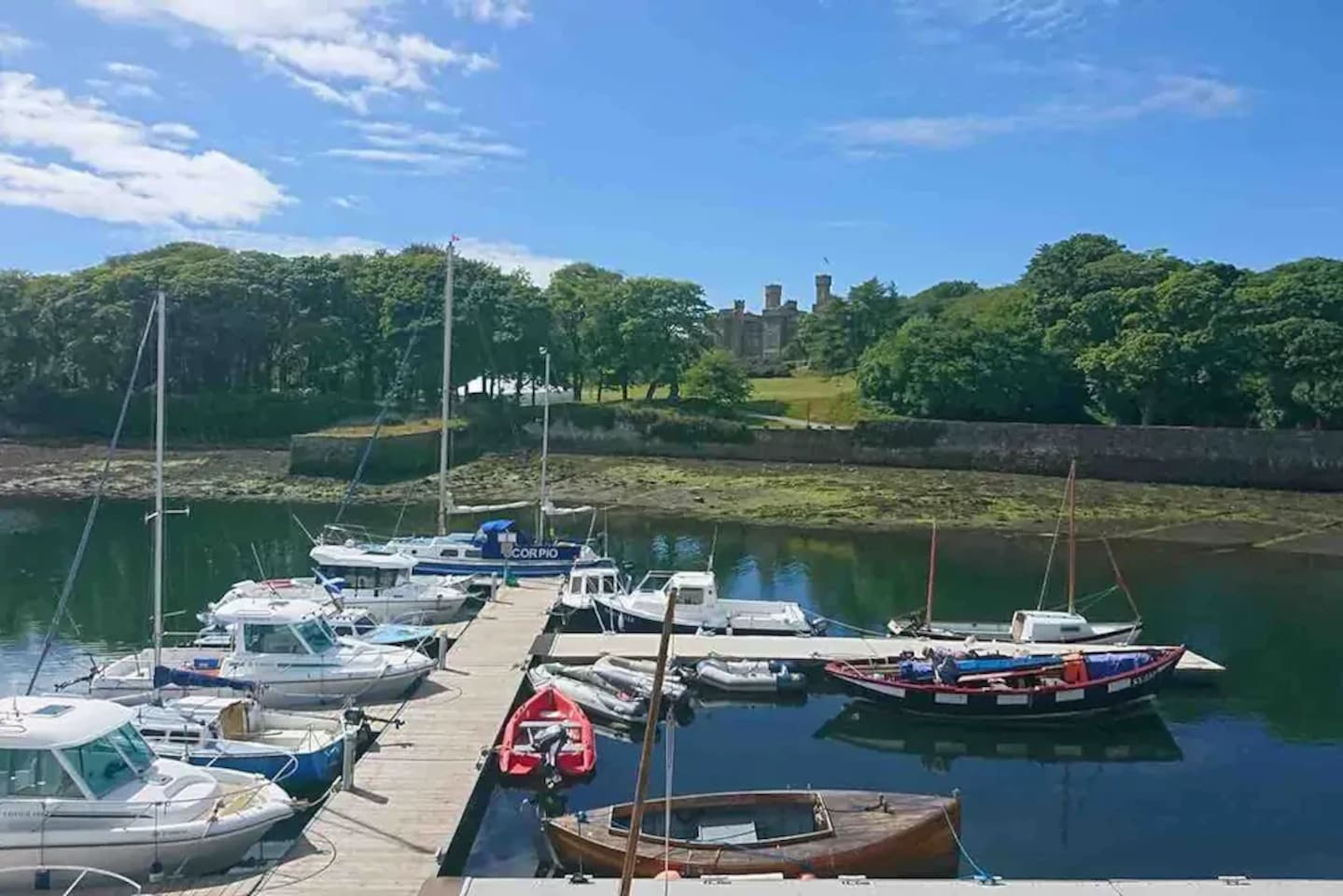Stornoway Harbour, across the road from the blue house