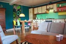 keuken in woonkamer