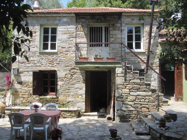 Traditional stone house in Pelion